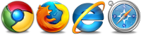 All major browsers supported
